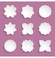 paper floral frames vector image vector image