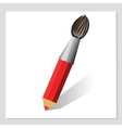 pencil and brush vector image