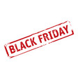 red grunge stamp and text black friday outline vector image
