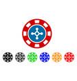 roulette casino chip icon vector image vector image