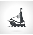 Sailing yacht black icon vector image vector image
