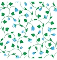 Seamless floral pattern with tiny blue flowers vector image