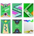 set flyer brochure design templates vector image