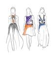 Set Models fashion vector image