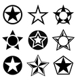 Shapes with five-pointed star vector image vector image