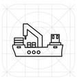 ship icon flat symbol vector image vector image
