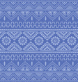 soft blue native american ethnic pattern vector image