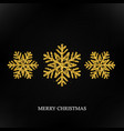sparkling golden snowflake with glitter texture vector image vector image