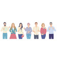 speaking men and women flat vector image