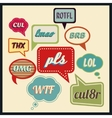 Speech bubbles with frequently used abbreviations vector image vector image
