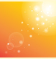 sun rays with bokeh on orange sky background vector image