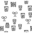 supplements sport seamless contour pattern vector image
