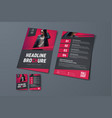 template of black brochure with place for photo vector image vector image