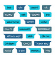 text phone chat messages collection with vector image vector image