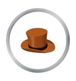 Top hat icon in cartoon style isolated on white vector image vector image
