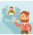Tough office job vector image