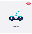 two color gamepad icon from entertainment concept vector image vector image