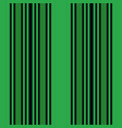 vertical green and black stripes print vector image vector image