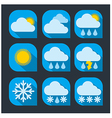 weather icon set flat vector image