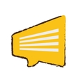 yellow bubble speech dialogue talk sketch vector image