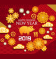 yellow pig zodiac animal chinese new year vector image vector image