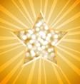 Christmas star card vector image