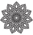 abstract with floral round lace mandala vector image
