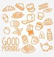 breakfast doodle vector image