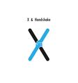 Creative X- letter icon abstract logo design vector image