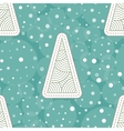 Background with Christmas tree and snowflakes vector image