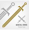 medieval sword icon vector image