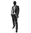 A standing businessman vector