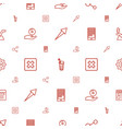 application icons pattern seamless white vector image vector image