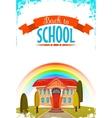 Back to school cartoon poster vector image
