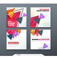 banner design square abstract banner with vector image vector image