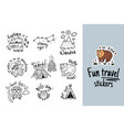 big set of cartoon sticker for camping in vector image vector image
