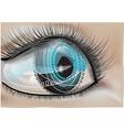 bionic human eye vector image