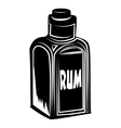 Bottle of rum vector image