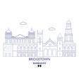 bridgetown city skyline vector image vector image