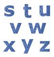 bubble alphabet - part 3 vector image vector image