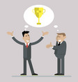 businessmen celebrate victory vector image vector image
