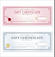 certificate gift coupon template retro vintage vector image vector image