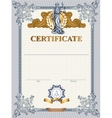 Certificate template with Femida vector image vector image