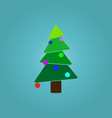 christmas tree over blue background vector image