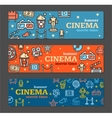 Cinema Banner Card Tickets Set vector image vector image