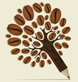 Coffee beans concept tree vector image vector image