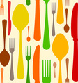 Colorful Cutlery Pattern vector image vector image