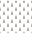colorful pyramid toy pattern vector image vector image