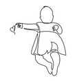 continuous line drawing of a cute baby is lying on vector image