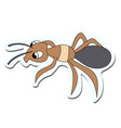 cute ant sticker stock vector image
